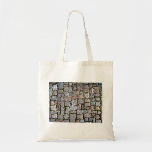 Paving Brick Cobbles Tote Bags
