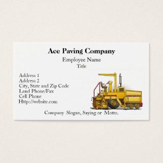 Paving Machine Construction Business Cards