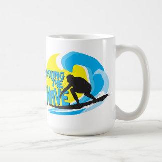 Paving the Wave Stoked Surfer Mug 1