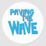 Paving the Wave Stoked surfer sticker