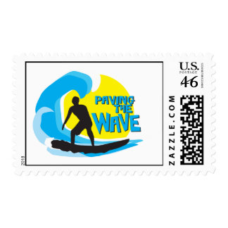 Paving the Wave Stoked surfer US postage stamp