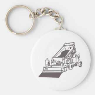 Paving Truck Outline Keychain