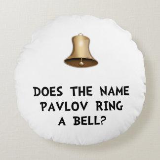 Pavlov Ring Bell Round Pillow