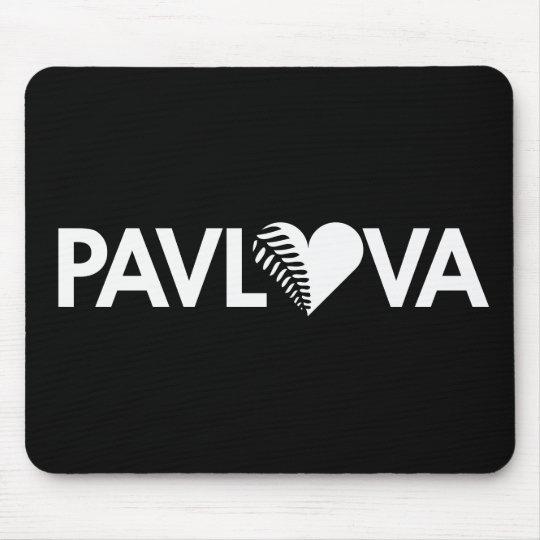 Pavlova Fern Heart Dark Mouse Pad