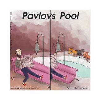 Pavlov's Pool Funny Cartoon Canvas Print
