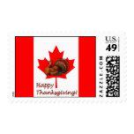 Pavo canadiense de la acción de gracias del día franqueo