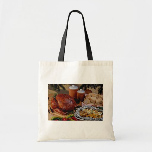 Pavo de la carne asada, patatas sazonadas bolsas