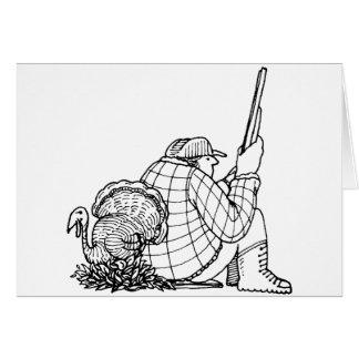 pavo del cazador del davholle tarjetas