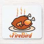 pavo del pollo del firebird alfombrilla de raton