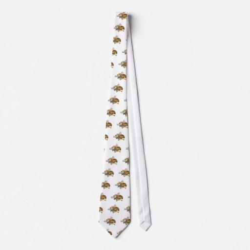 pavo divertido del guerrero corbata personalizada