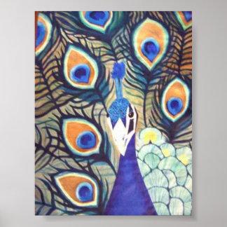 Pavo real 1 (de acrílico por el arte de Kimberly T Impresiones