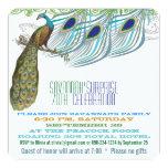 Pavo real 70.o o cualquier fiesta de cumpleaños invitación 13,3 cm x 13,3cm