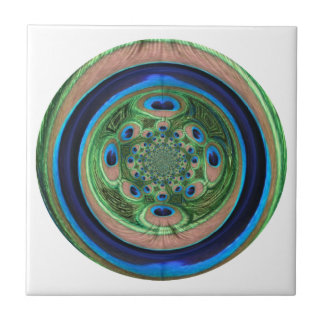 Pavo real abstracto azulejos