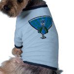 Pavo real azul camisetas mascota