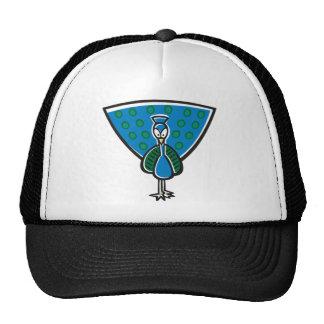 Pavo real azul gorras
