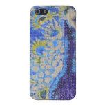 pavo real azul iPhone 5 cárcasas