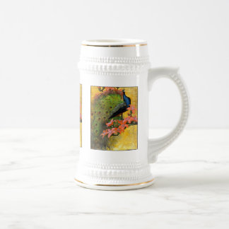Pavo real azul taza de café