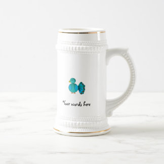 Pavo real azul tazas