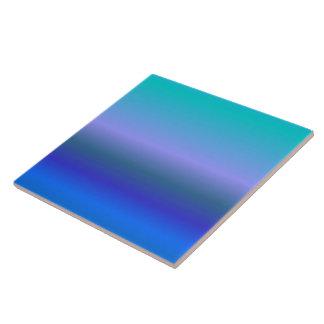 Pavo real azulejo cuadrado grande