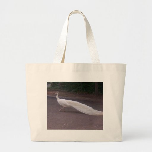 Pavo real blanco bolsas de mano