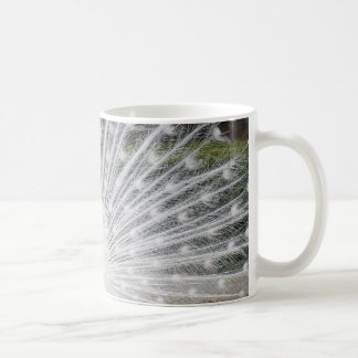 pavo real blanco taza