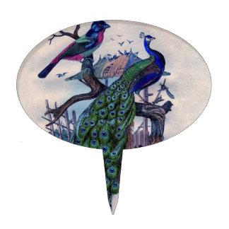 Pavo real bonito con el pájaro decoración para tarta
