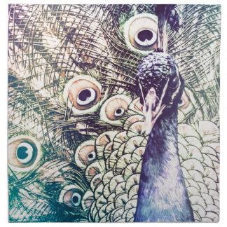 pavo real, color, pintura al óleo, Australia Servilletas