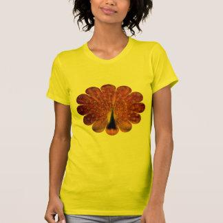 Pavo real colorido - la camiseta de las mujeres