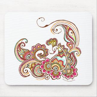 pavo real colorido mouse pad