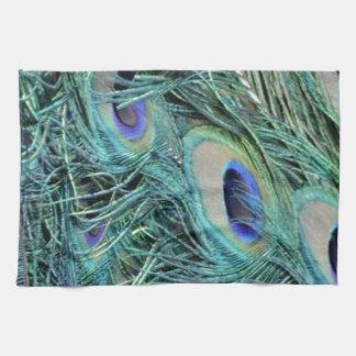 Pavo real colorido toalla