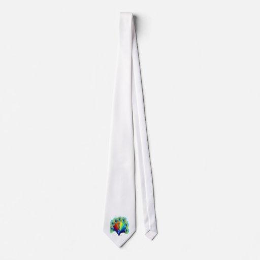 Pavo real corbata