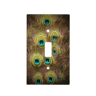 Pavo real de Brown y del oro Cubierta Para Interruptor