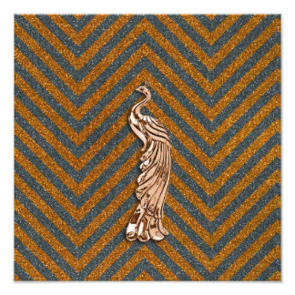 Pavo real de cobre del brillo arte fotográfico