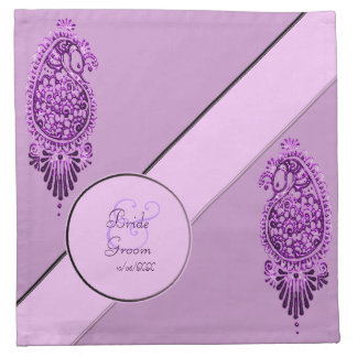 Pavo real de la alheña (ahorre la fecha) (la servilleta imprimida