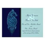 Pavo real de la alheña (boda) (azul)