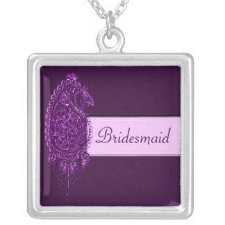 Pavo real de la alheña (boda) (violeta) joyería
