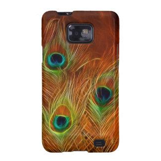 Pavo real de la caja de la galaxia S2 Barely There Samsung Galaxy S2 Funda