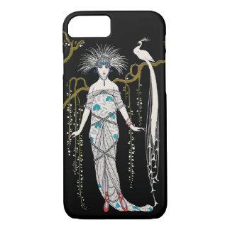 Pavo real de la placa de moda de George Barbier Funda iPhone 7