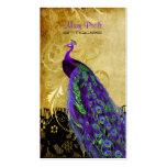 Pavo real de la púrpura del vintage de PixDezines+ Plantillas De Tarjetas De Visita
