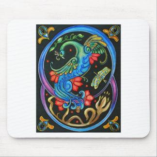 Pavo real de Nouveau del arte Tapetes De Raton