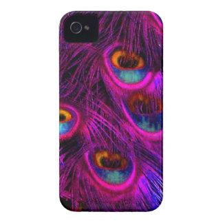 Pavo real de PixDezines Psychedellic Case-Mate iPhone 4 Carcasa