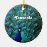 Pavo real de Tanzania Adorno De Navidad