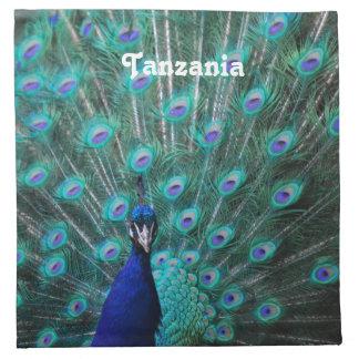 Pavo real de Tanzania Servilletas Imprimidas