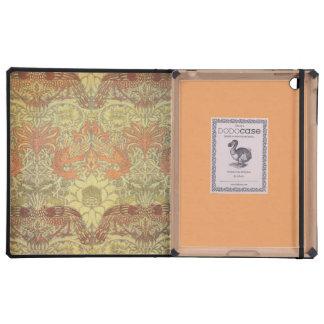 Pavo real de William Morris y modelo del dragón iPad Cobertura