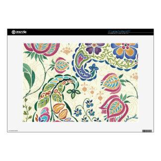 Pavo real decorativo y flores coloridas 38,1cm portátil calcomanía