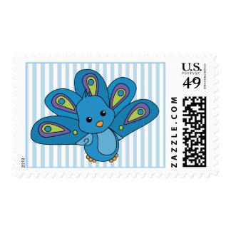 Pavo real del bebé de Lil Timbre Postal