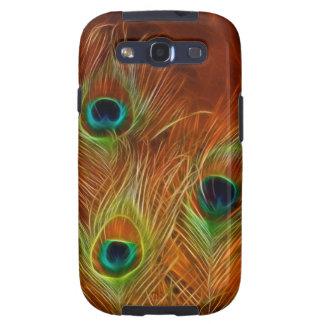 Pavo real del caso del ambiente de la galaxia S3 d Samsung Galaxy S3 Cárcasa