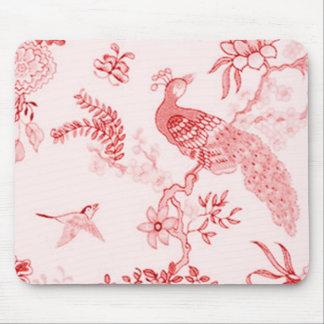 """Pavo real del """"estilo"""" y color de rosa tranquilo mousepad"""