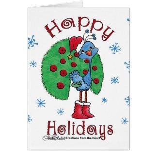 Pavo real del navidad tarjeta de felicitación