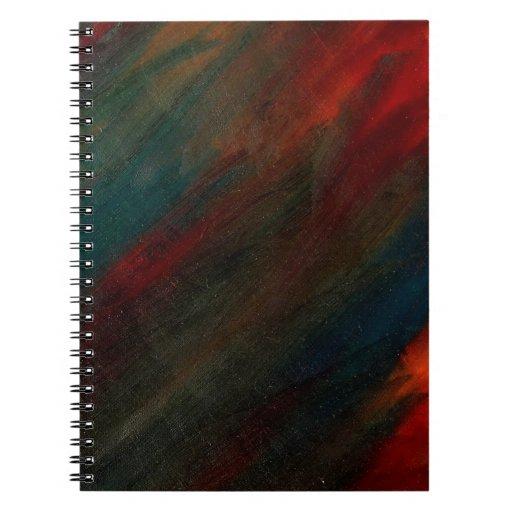 pavo real del otoño - arte de Michelle del amanece Libretas Espirales